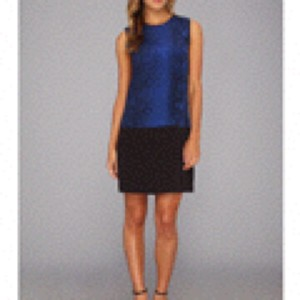Rebecca Taylor short dress Black & Blue on Tradesy
