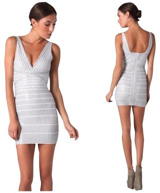 Item - Silver Sequin Kaitlyn Above Knee Night Out Dress Size 4 (S)