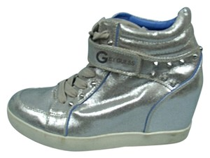 Guess Velcro Wedge Studs Silver Athletic