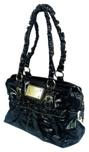 Chiara Guia Patent Leather Italy Satchel in Black
