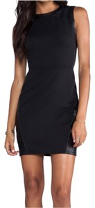 EightySix Faux Leather Zipper Little Lbd Faux Leather Stretchy Dress