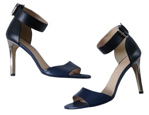 J.Crew Two Tone Ankle Strap Navy Sandals