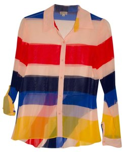 Daniel Cremieux Top Color Block Stripes