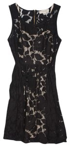 Monteau Los Angeles short dress Black Lace/Beige Underlayer on Tradesy