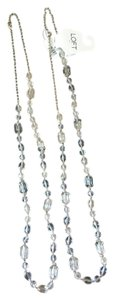 Ann Taylor LOFT Clear Bead Adjustable Necklaces