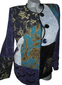 Indigo Moon patchwork of blues Jacket