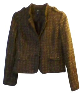 H&M Acrylic/cotton Blend Polyester Lining brown Jacket