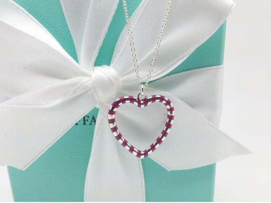 Tiffany & Co. Tiffany & Co. Paloma Venezia Palina Purple Swirl Heart Pendant w/ Chain