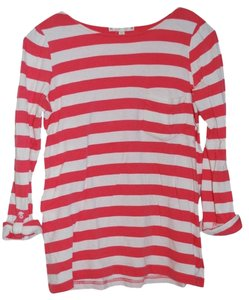 Joie T Shirt White with Red Stripe