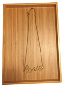 2b bebe { love } Necklace Gold Color ~ Worn Once!
