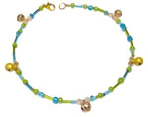 Other Blue & Green Ankle Bracelet W/ Bell Charms PROD105