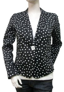 Elliott Lauren Black and White Polka Dot Blazer