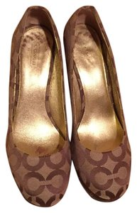 Coach Brown/Taupe Mules