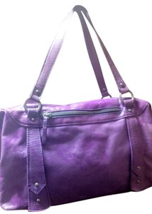 Helen Welsh Satchel in variegated lavender/purple