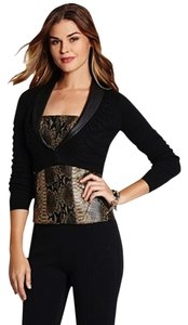Guess Bolero Faux Leather Black Jacket