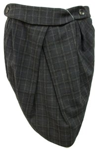 MINT Jodi Arnold By Plaid Skirt Charcoal