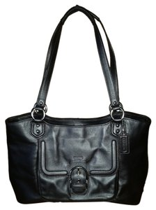 Coach Campbell Carryall Snap Closure Multi Pockets Shoulder Bag