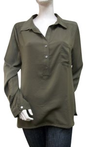 Lilla P Collared Top Olive