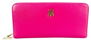 Neiman Marcus Neiman Marcus Hot Pink Leather Double Zip Around Large Travel Wallet New With Tags