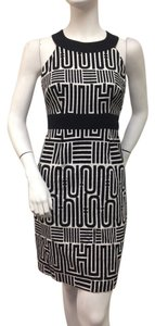 Laundry by Shelli Segal short dress Black White Racerbaaack on Tradesy
