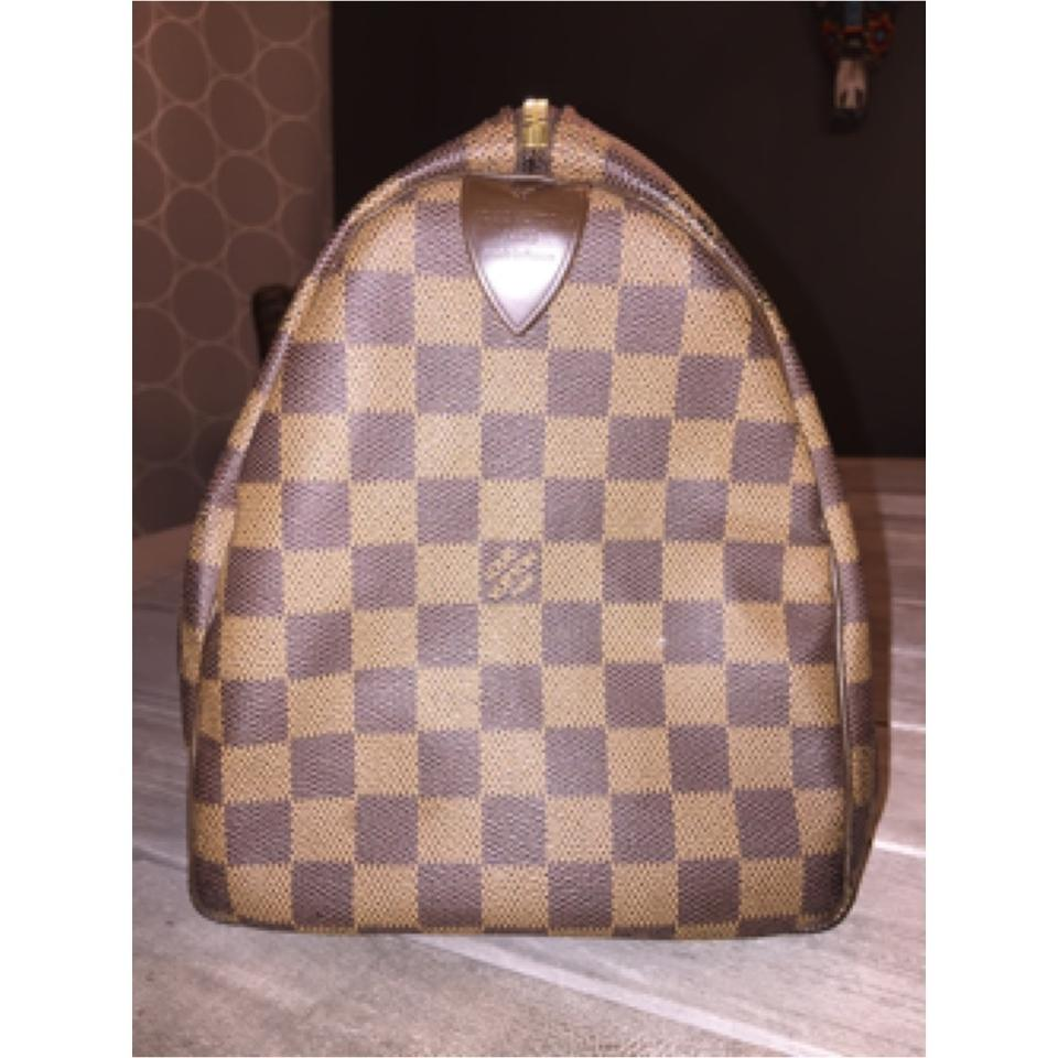 6722ef38ab7e Louis Vuitton Speedy Price Drop Damier Ebene 30 Handbag Doctor Purse  Checkered Brown Canvas Satchel