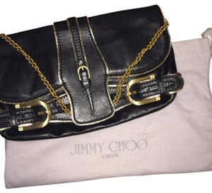 Jimmy Choo Black And Gold Clutch