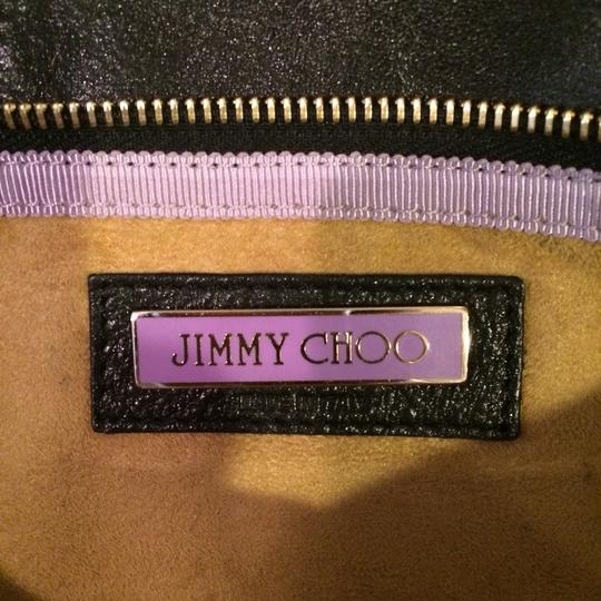 Jimmy Choo Black And Gold Clutch Image 2