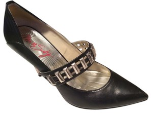 Miss Sixty Pump Black Leather Pumps