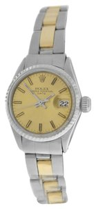 Rolex Rolex Oyster Perpetual Date Just 6517 Steel 18K Gold 25MM Automatic Watch