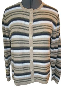 Christopher & Banks & Longsleeve Practical Mult-colored Striped Sweater