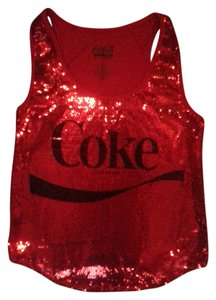 Coca-Cola Top red sequins and black