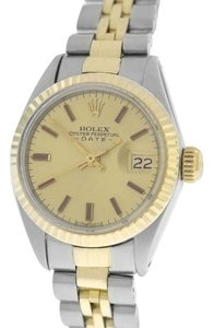 Rolex Rolex Oyster Perpetual Date Just 6917 Steel 18K Gold Automatic Watch