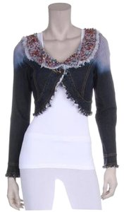 Freda Five semi-precious beads & stones Womens Jean Jacket