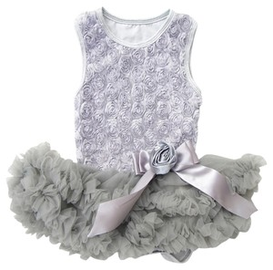 Other Toddler Rosette Sundress Skirt Grey Combo