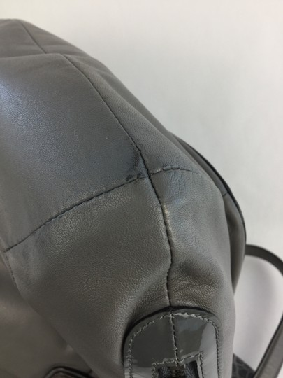 Coach Kristen Leather Ziptop Functional Tote in Gray