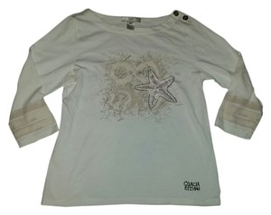 Coach Poppy Glitter Starfish Optic C Sparkly Log\ng Sleeve Beach Shirt T Shirt cream
