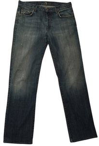7 For All Mankind Distressed Mens Seven Mens Dress Relaxed Fit Jeans-Distressed