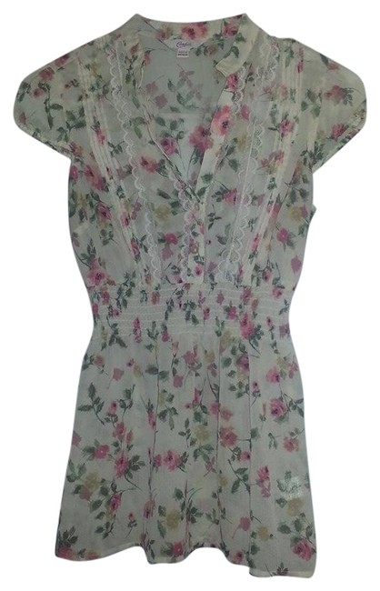 Preload https://item4.tradesy.com/images/candie-s-floral-top-tan-1204403-0-0.jpg?width=400&height=650