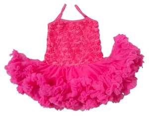 Other Rosette Petti Toddler Sundress Skirt Hot Pink Combo