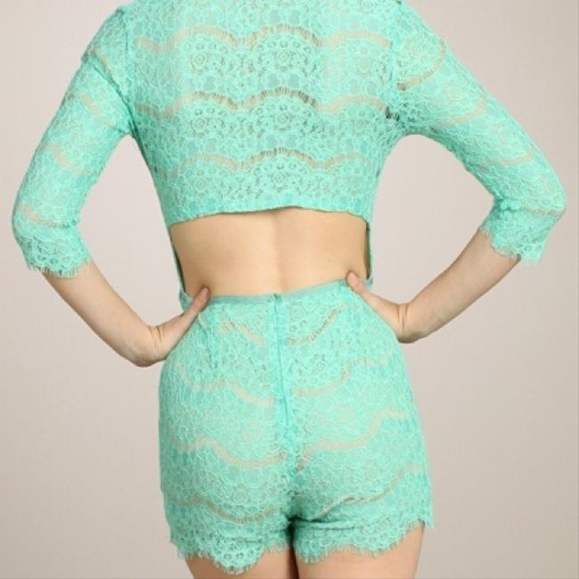 Other Lace Plunge Dress