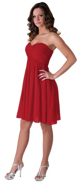 Preload https://img-static.tradesy.com/item/120451/red-sexy-strapless-sweetheart-pleated-bust-chiffon-knee-length-cocktail-dress-size-8-m-0-0-650-650.jpg