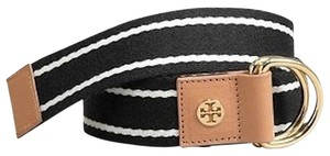 Tory Burch Tory Burch Black & Ivory Stripe Belt - New without tags - size small