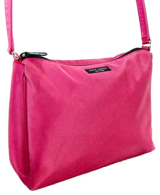 Item - Zip Top Pink Nylon Shoulder Bag