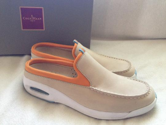 Cole Haan Preppy Suede Sporty Comfortable Salt/Orange Mules