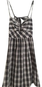 Johnny Martin short dress Black/White Plaid on Tradesy