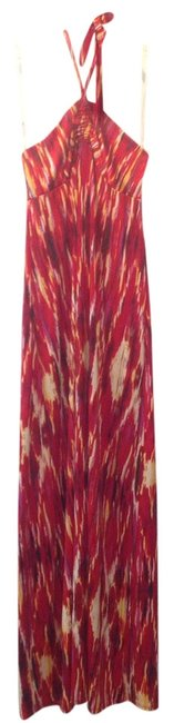 Red Multi Maxi Dress by Johnny Martin