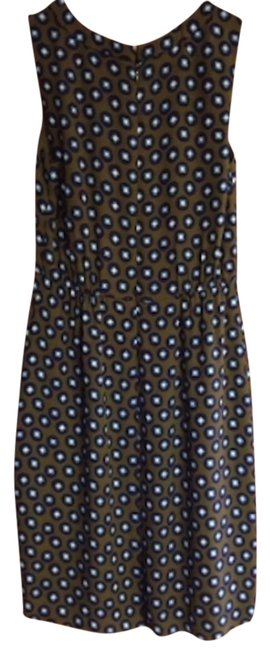 J.Crew short dress Green with blue and white dots on Tradesy