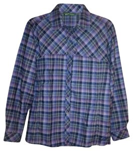Woolrich Button Down Shirt Indigo Plaid