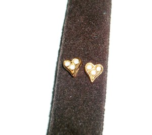 "Artistry Artistry ""Sweetheart"" Pierced Heart Shaped Earrings in Goldtone Setting, New Vintage Pair"