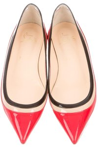 Christian Louboutin Red Patent Patent Leather Red, Clear, Black, White Flats